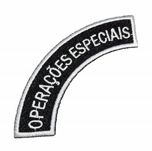 EML047 Bope RJ Operações Especiais Brazil Rio De Janeiro Patch Tropa De Elite Embroidered Patch Iron or Sew - Elite Embroidered Hat