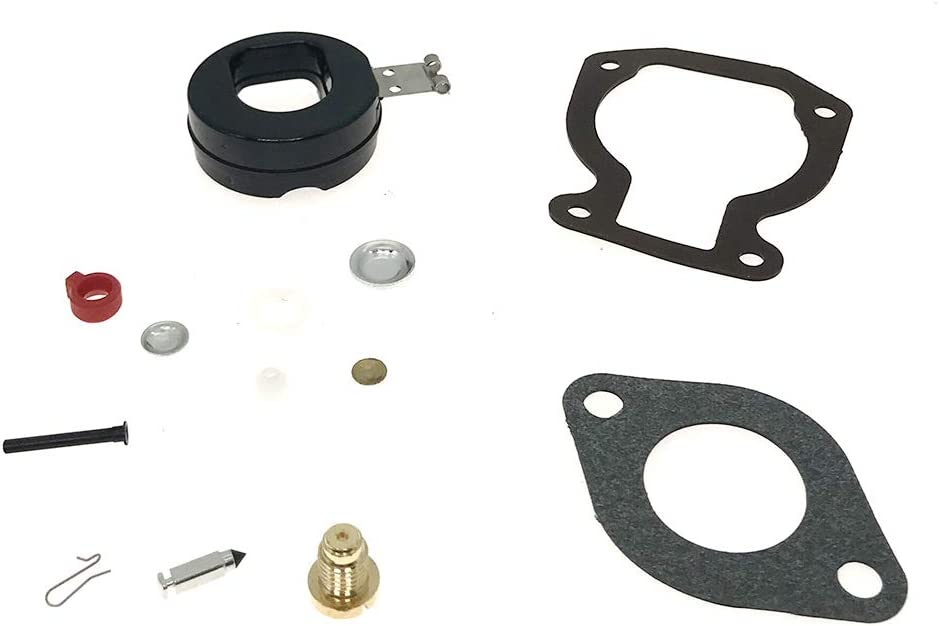 398453 Carburetor Carb Repair Rebuild Kit with Float Fits Johnson Evinrude BRP Outboard 4HP 4.5HP 5HP 6HP 7.5HP 8HP 9.9HP 15HP Replace 398453 391305 398452 439072 391937