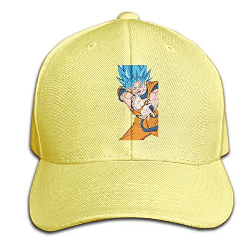 STDONE Custom Adult Son Goku Dragon Ball Logo Baseball-Cap Casual Dad Hat Yellow