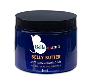 Bella mama Belly Butter 6oz Rich and Luxurious Butter Made to Soothe Skin, Reduce Itchiness and minimize Stretch Marks