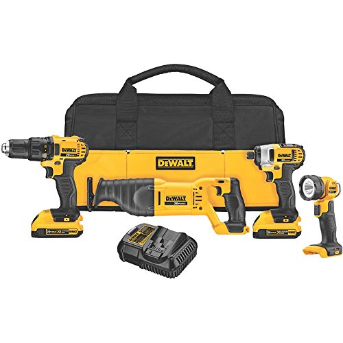 DEWALT DCK420D2R 20V MAX Cordless Lithium-Ion 4-Tool Combo Kit 20V Combo Kit (Certified Refurbished)