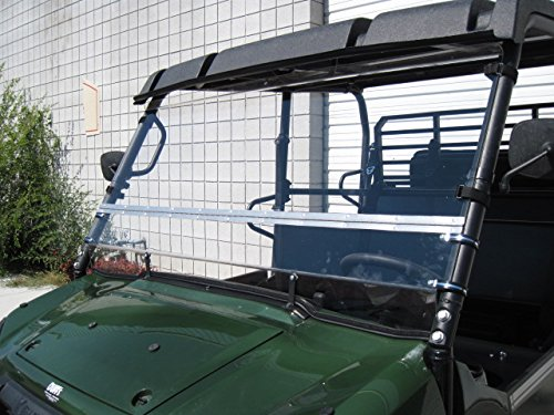Kawasaki Mule Pro Series 2015 and Newer FULL-TILT WINDSHIELD. We need to know what kind of roof you have Hard or Soft? Check email/junk file for message after order is placed by UTV Windshields and Accessories (Image #3)