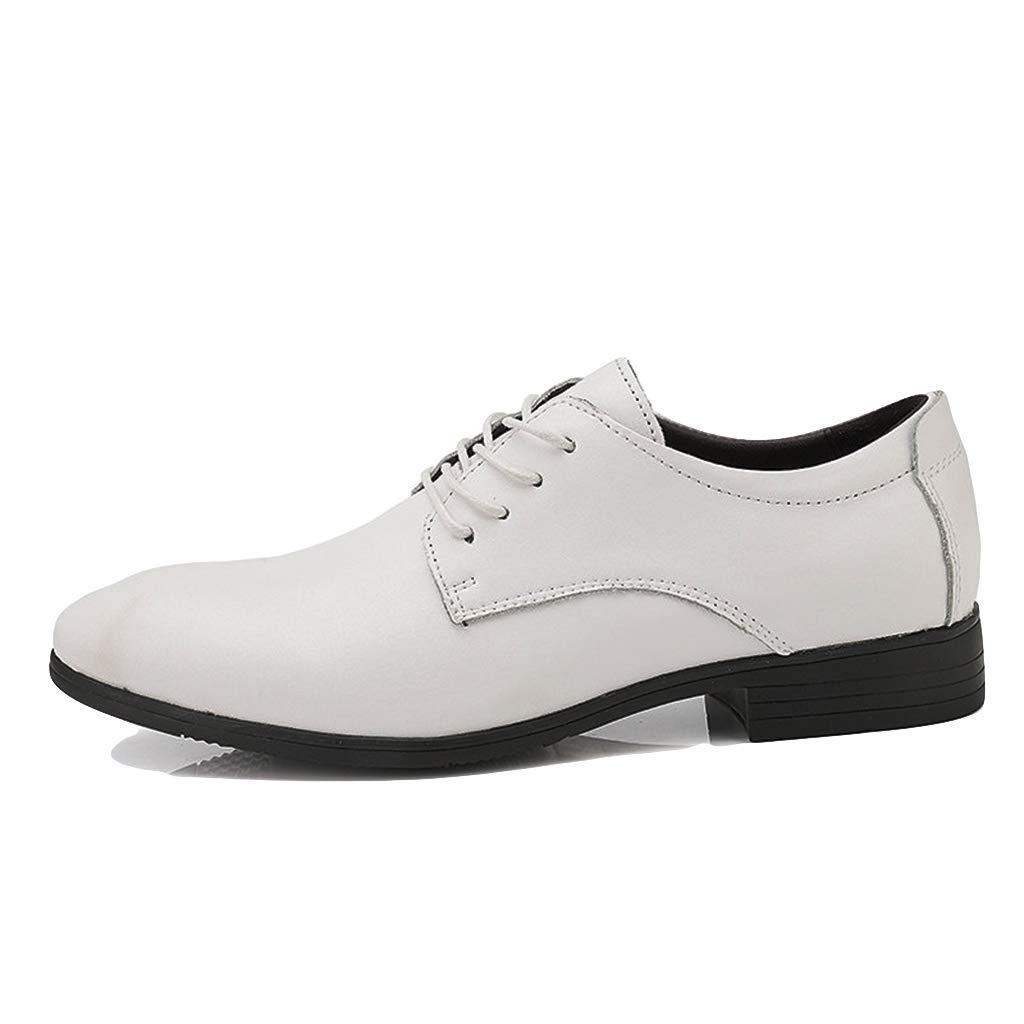 Weiß LIXIYU Herren Lederschuhe weiszlig; weiszlig; Derby Schuhe Formale Schuhe Hochzeit Buu ;ro Kleid Schuhe Freizeitschuhe Business Schuhe Mode  Online-Verkauf
