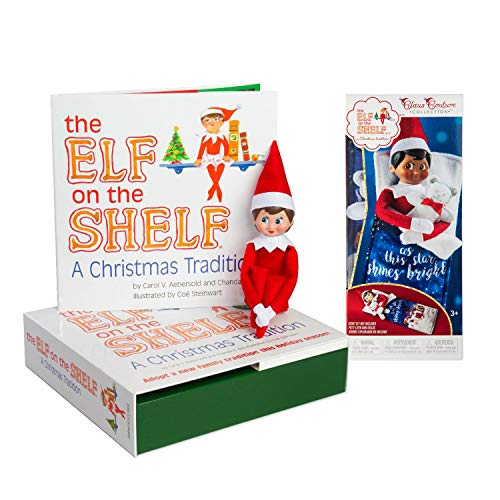 The Elf on the Shelf: A Christmas Tradition Girl Scout Elf (Blue Eyed) with Claus Couture Collection Scout Elf Slumber Set