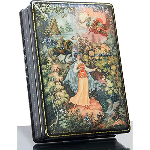 Russian Lacquer - Russian Lacquer Miniature - Jewelry Trinket Box Russian Lacquer Box