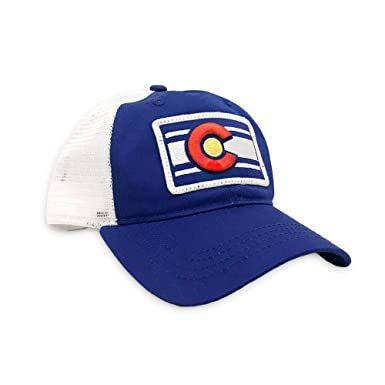 88d6b3e853f Amazon.com  Colorado Limited Unstructured Classic Blue Trucker  Clothing