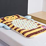 Cartoon Bee Children Sleeping Bag - Pure Cotton AB Side Healthy Anti-kicking Quilt Baby Kindergarten Camping 55 X 31 Inch Christmas Gifts Brown