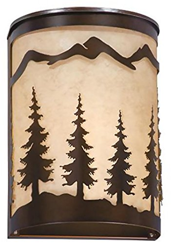 Burnished Bronze Lamp Wall (Vaxcel WS55508BBZ Yosemite Wall Sconce, 8