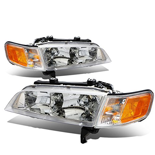 For Honda Accord SiR Pair of Chrome Housing Amber Corner Headlight Light (Honda Accord Chrome Housing)