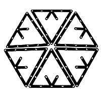 6 Stk. Magische Rack Billard Dreieck Triangel Queue Zubehör schwarz 8,9 und...