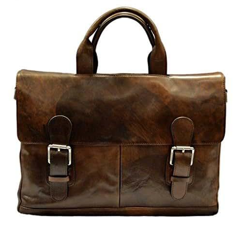3c500faee Carpeta de cuero genuino bolso messenger piel bolso de hombre piel bolso de mujer  piel maletin