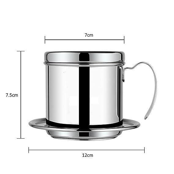 Cafetera de filtro, acero inoxidable vietnamita cafetera eléctrica Pot Pot de goteo de filtros, de goteo de café taza café Brewer - Portátil, ...