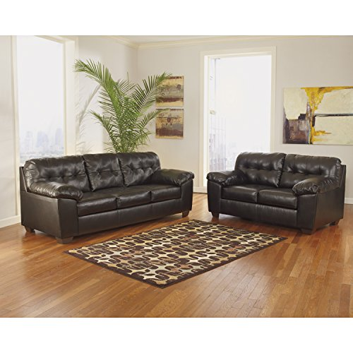 - Signature Design by Ashley Alliston Living Room Set in Chocolate DuraBlend