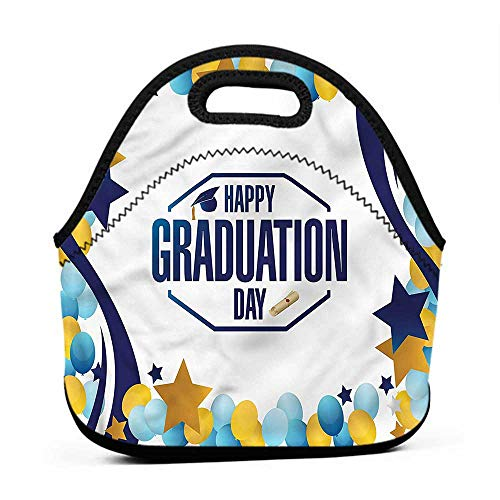 Convenient Lunch Box Tote Bag Graduation,Balloons Ribbons Party,mickey lunch bag for kids