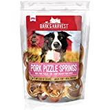 Bark & Harvest Pork Pizzle Springs| All Natural Dog Treats from Our Farms | Real Protein Dog Chews | 100% Pork Pizzles Springs