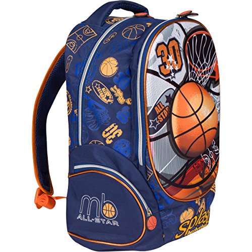 MB ALL-STAR - Kids Backpack Elementary School Book Bag for Boys with 3D  Basketball a745618c3e