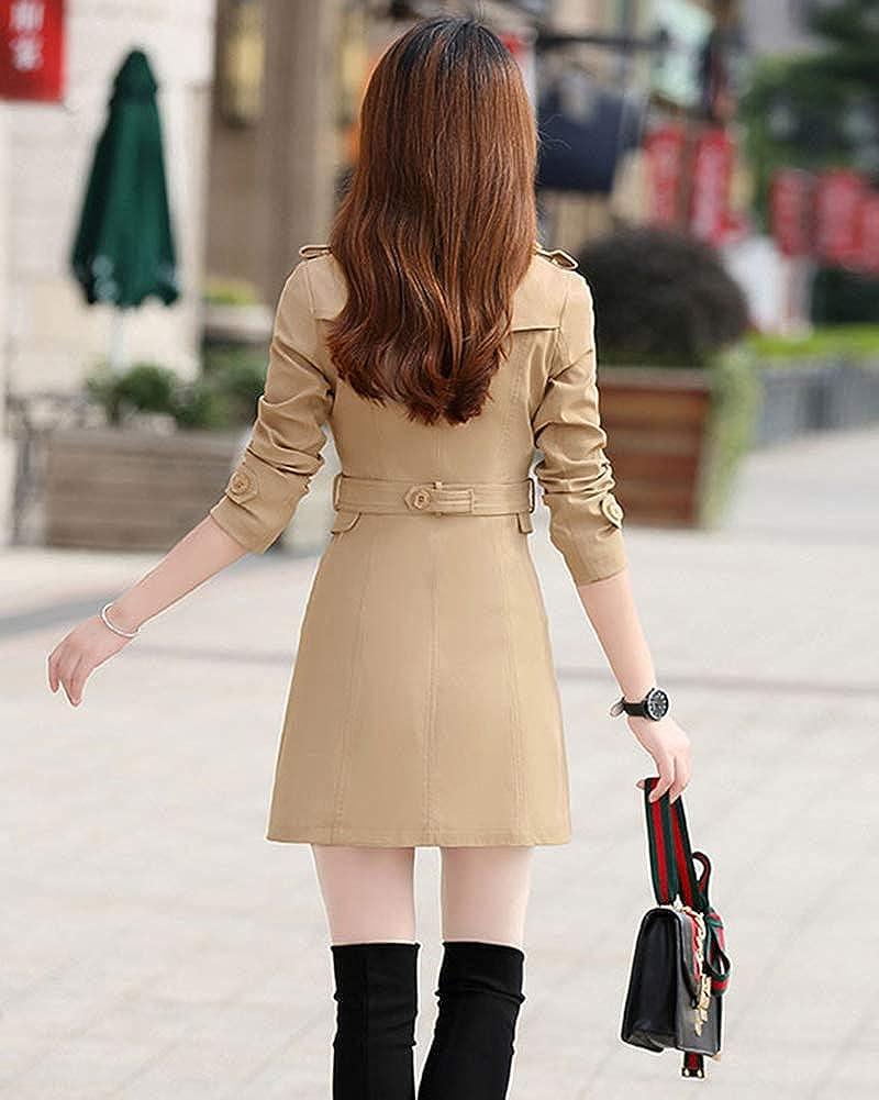 KasenA Tempo Libero Donna Cappotto vestibilit/à Slim Trench Giacca Parka Outwear