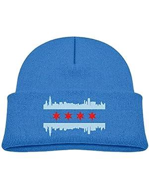 Fashion Chicago Flag Skyline Printed Baby Girl Boys Winter Hat Beanie