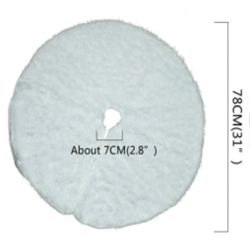 CRSM 17 Patrones Coloridos de Felpa Blanca para árbol de Navidad ...