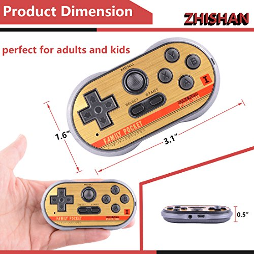 ZHISHAN Retro Games Controller Mini Classic Handheld Game Console Toys for Kids Gamepad Joystick Support Dual Battle Load in 260 Video Games Connect and Play with TV Gaming Station (Black+Blue) by ZHISHAN (Image #6)