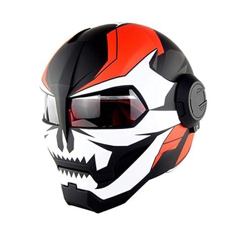 Yedina Casco de Motocicleta de Cara Completa, para Adultos ...