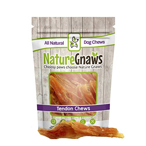 Nature Gnaws Tendon Chews 4-7″ (12 Pack) – 100% All Natural Grass Fed Premium Beef Dog Chews – Promotes Healthy Joints & Ligaments Review
