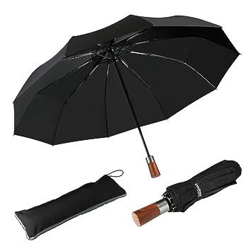 bas prix 1e670 62889 Parapluie Pliant Automatique Parapluie Classique Pliable de voyage,  Résistant Au Vent de 60 Mph, Solide Incassable, Automatique Ouverture et  Fermeture ...