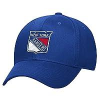 NHL New York Rangers Men's Basic Pro Shape Flex Cap, Small/Medium, Blue
