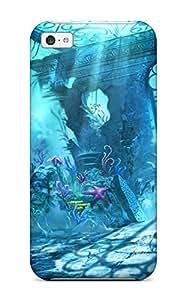 Hot Tpu Cover Case For Iphone/ 5c Case Cover Skin - Trine Underwater Scene