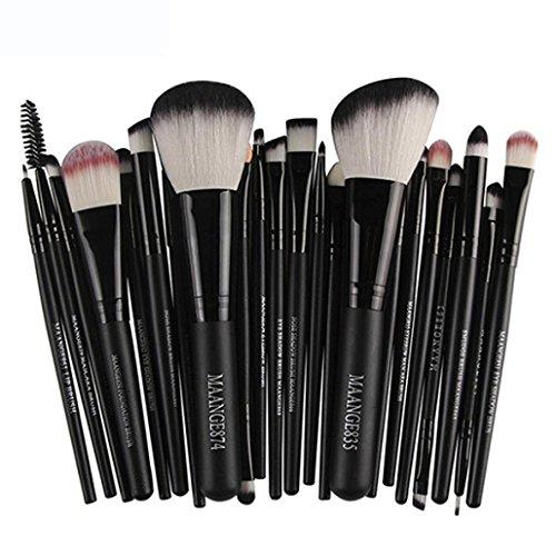 ❤JPJ(TM)❤️ 22pcs /set Makeup Brushes,Clearance Sale Women Professional Makeup Brush Blusher Eye Shadow Cosmetic Brushes Set Kit Tool (Black)