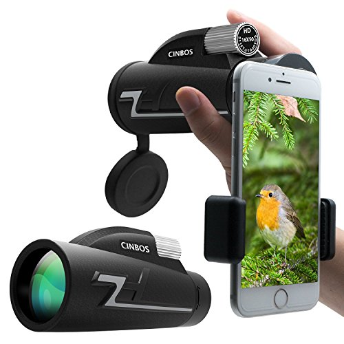 16x50 Monocular Telescope, High Powered Monocular Scope with Phone Adapter and Tripod, Waterproof Fogproof Optics FMC BAK4 Prisms, Single Hand Focus for Outdoors Like Bird Watching etc. by VEMTONA