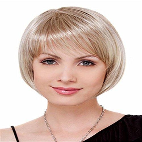 Women's Wig Short Blonde Wig Bob Sexy Hair Wig Fancy Dress Accessories Woman Party Cosplay for Women Lady (Womens Fancy Dress Wigs)