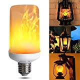 Led Flame bulb Led Flame light bulbs Led Flicker Flame Bulbs, E27 1500k Creative Lights with Flickering Emulation Atmosphere Decorative Lamps for Home, Garden, Dating, Party, Festival Decoration (1 Pack)