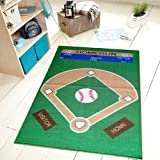 "All Stars Baseball Ground Kids Area Rug 4'5"" X 6'9"""