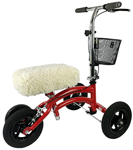 KneeRover Universal Knee Walker Knee Rest Pad Cover - Plush Synthetic Sheepskin Pad for Rolling Scooter by KneeRover (Image #7)