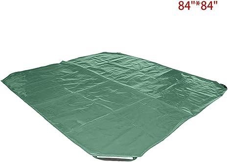 Bolsa de almacenamiento para jardín con asa, bolsa de almacenamiento para desinflar cubos de basura de jardín, bolsa de colección, se utiliza como bolsa de almacenamiento de lona 84*84 verde: Amazon.es: Grandes