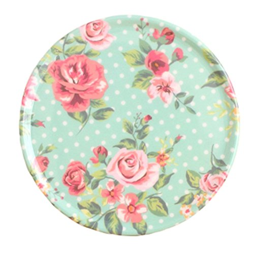 4PCS RetroStyle Cup Mats Plate Coasters Saucer Drinks Holder Tray, Green