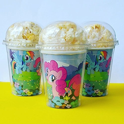 Set of 8 - My Little Pony Party Cups, Popcorn Cups, Goody Bags, Favor Boxes
