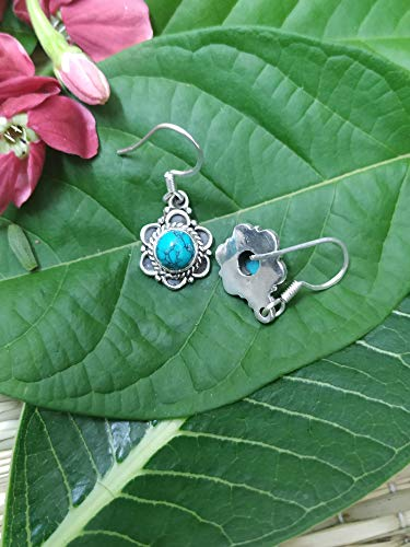 Turquoise Earrings, Antique Earrings, Daily Wear Jewelry, Bridesmaids Gift, 925 Sterling Silver Earrings, Southwestern Earrings, Promise Jewelry, Bohemian Jewelry, Dainty Earrings, Gift For Her