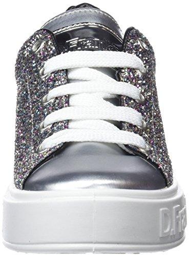 D Plateado Glitter Zapatillas Gumme para Franklin Silver Mujer H8q1wv