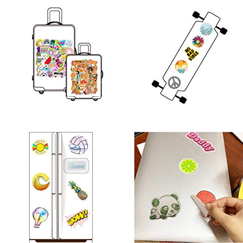 200 PCS Mixed Stickers Pack (50Pcs/Pack), Cute Small Fresh Funny Waterproof Vinyl Stickers Decals for Teens Girls Adults, Perfect for Hydro Flask, Laptop, Computer, Phone, Refrigerator, Electric Body
