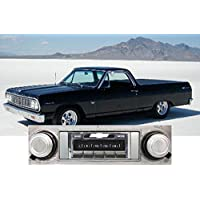 1964 Chevrolet El Camino USA-630 II High Power 300 watt AM FM Car Stereo/Radio with AUX Input, USB Input, iPod Docking Cable. No modifications to original dash required.
