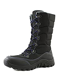 DailyShoes Women's Lace Up Warm Outdoor Hiking Mid Calf Ankle Snow Boots