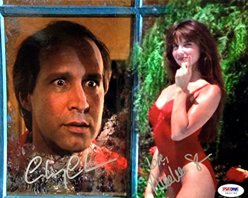 Chevy Chase & Nicolette Scorsese Dual Signed 8x10 Christmas Vacation Movie Photo PSA from A&R Collectibles