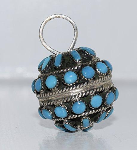 Magnificent Blue Turquoise Multi-Stone Ball Pendant FINE Quality and (Navajo Stone Pendants)