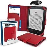 G-HUB - Funda para Amazon Kindle 4 (6 pulgadas, última generación, modelo del 2011, lámpara LED), color rojo