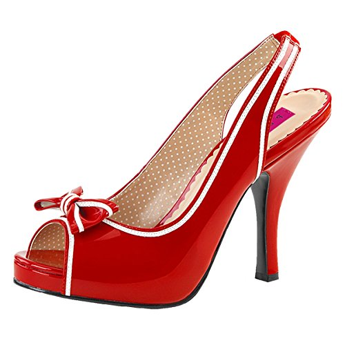 Heels-Perfect - Pantuflas de caña alta Mujer rojo (rojo)