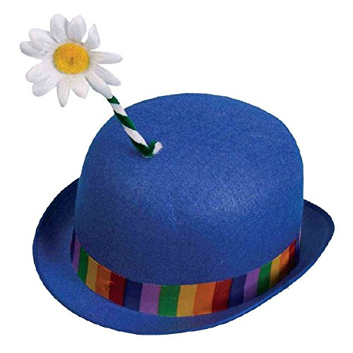 Clown Derby with Flower Costume Accessory Adult (Derby With Flower Clown Hat)