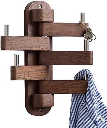5 Crochet en Bois Rack Porte Ou Mural Chapeau Rack en bois multi crochet cintre