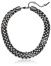 Kenneth Cole New York Mesh Stone Collar Necklace